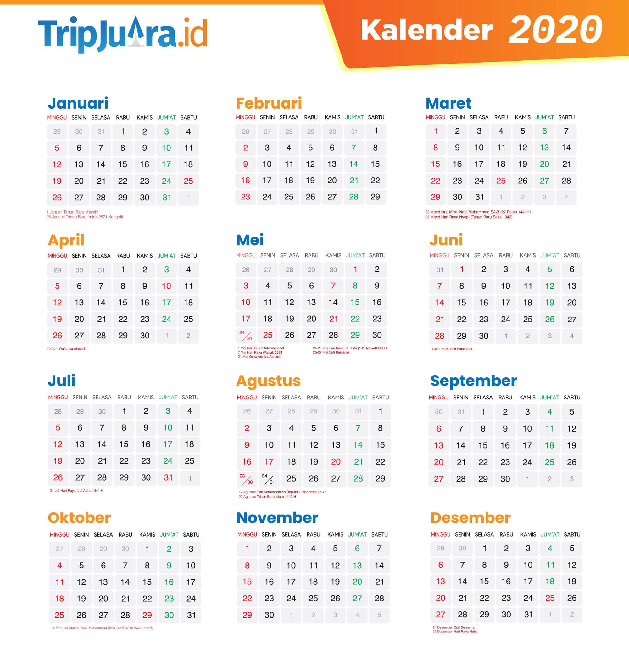 Kalender 2020 Indonesia