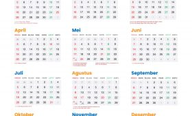 Kalender 2020 Lengkap dengan Hari Merah dan Cuti Bersama Indonesia