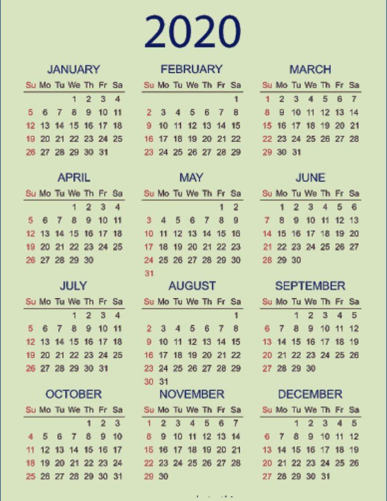 Kalender 2020 Tour Medan