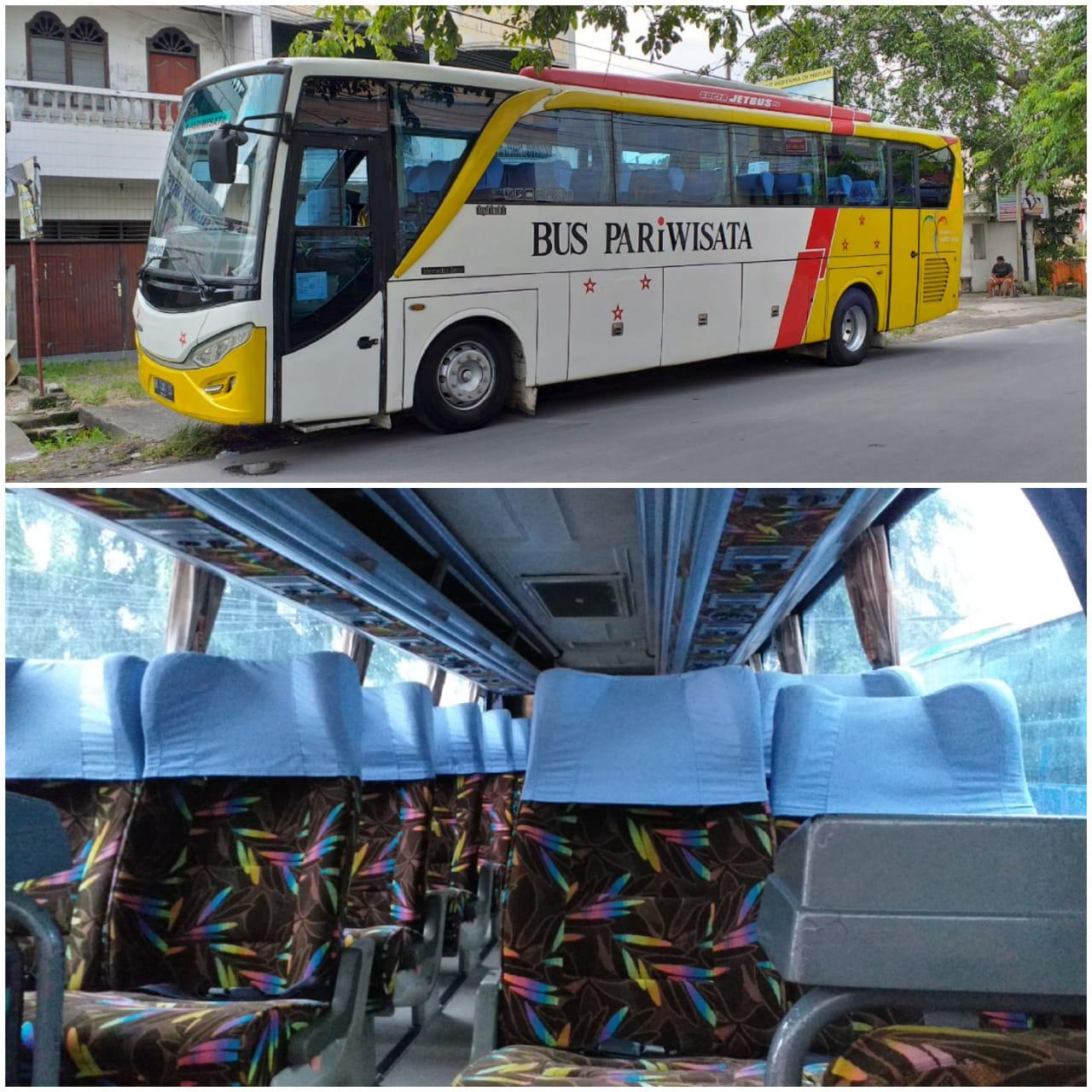 Eksterior Bus Pariwisata Medan Seat 45