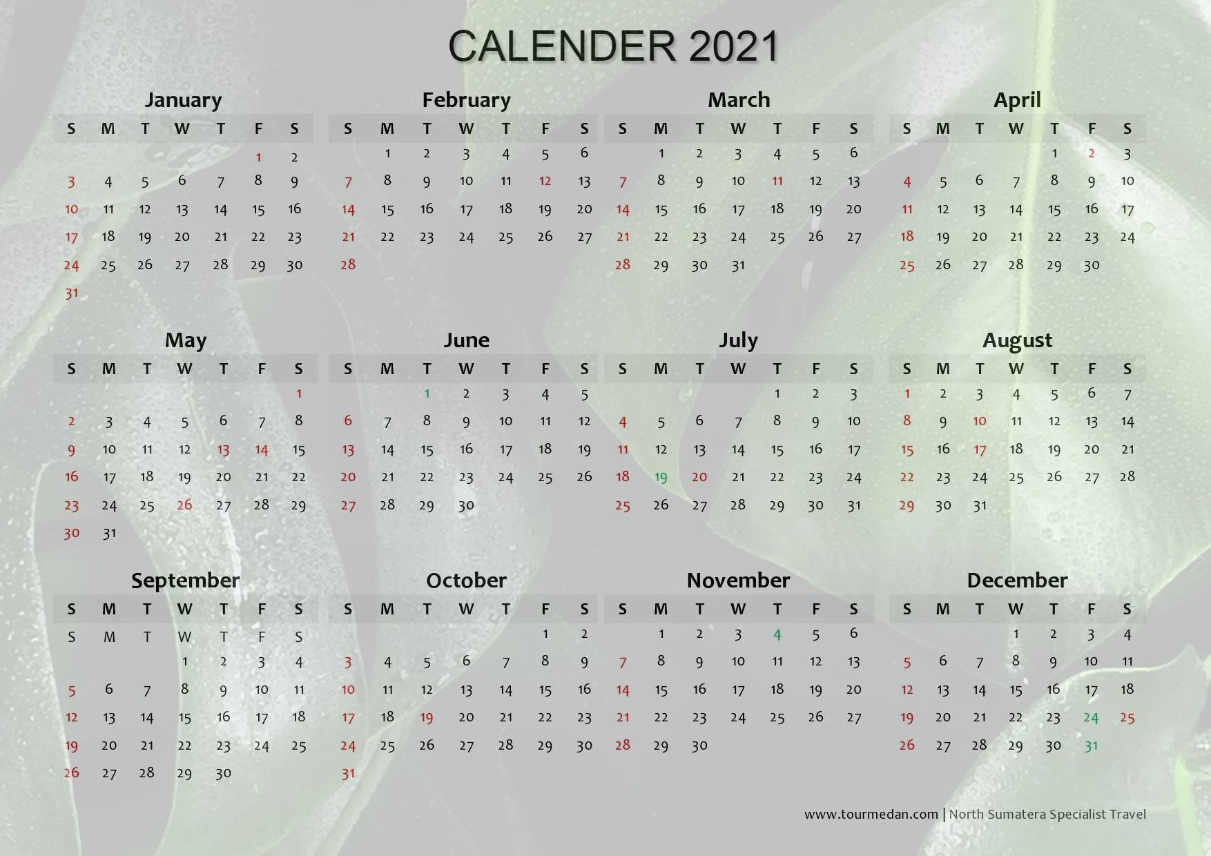 Final Calender 2021