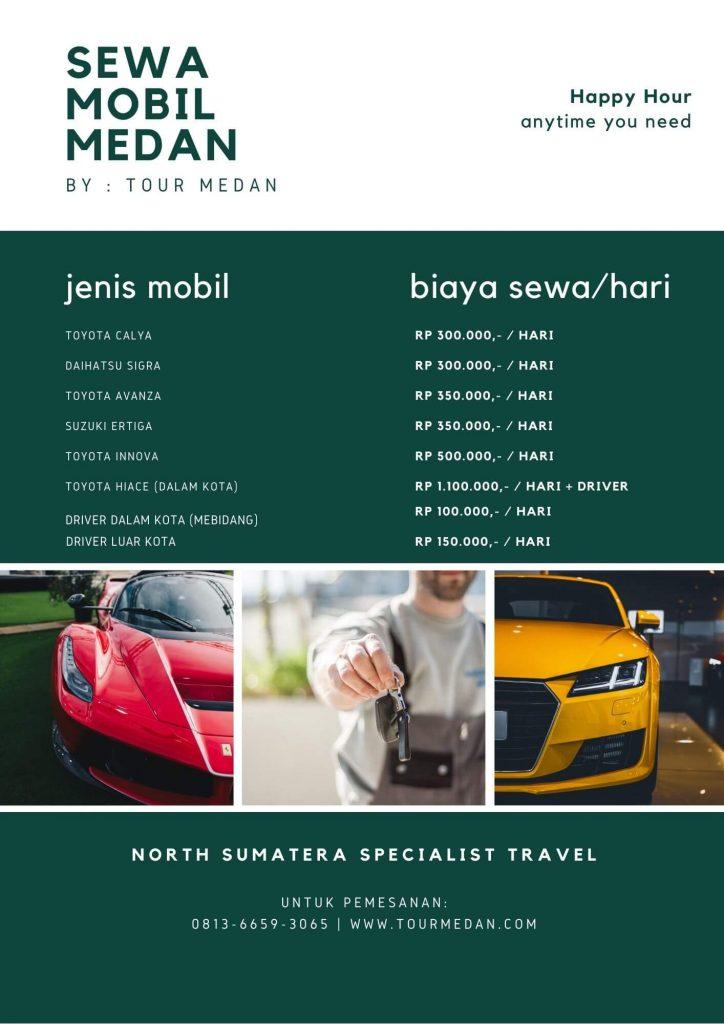 Daftar Harga Sewa Mobil Medan